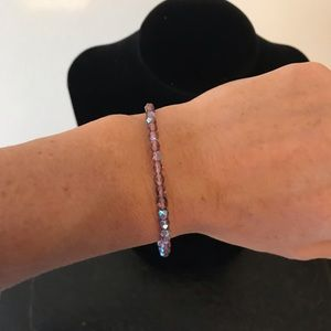 Alex and Ani - purple rhinestone bracelet